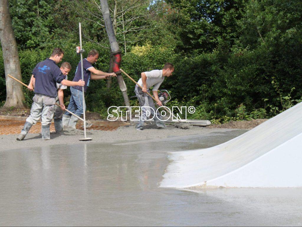 skatebaan opbouw
