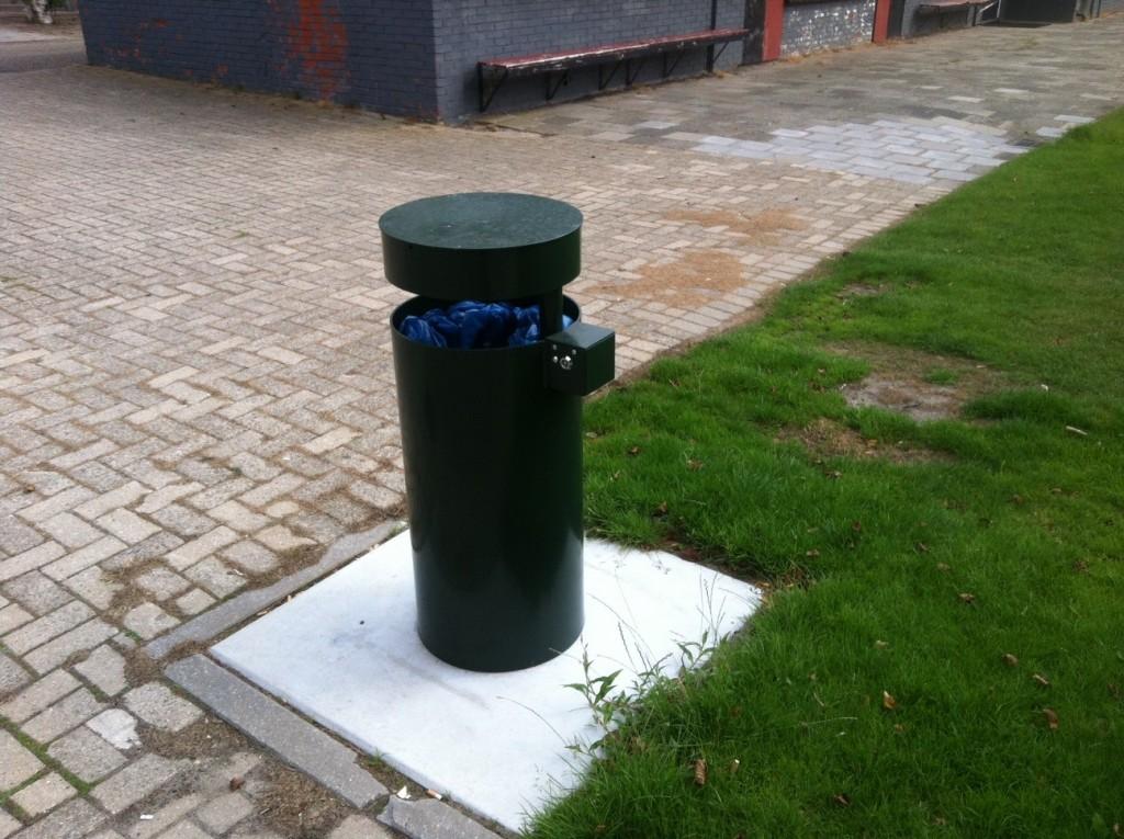Cilinder afvalbak straatmeubiliar