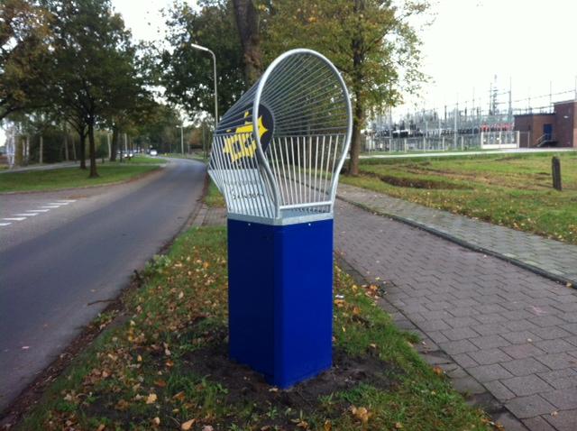 Blikmikker straatmeubilair afvalbak