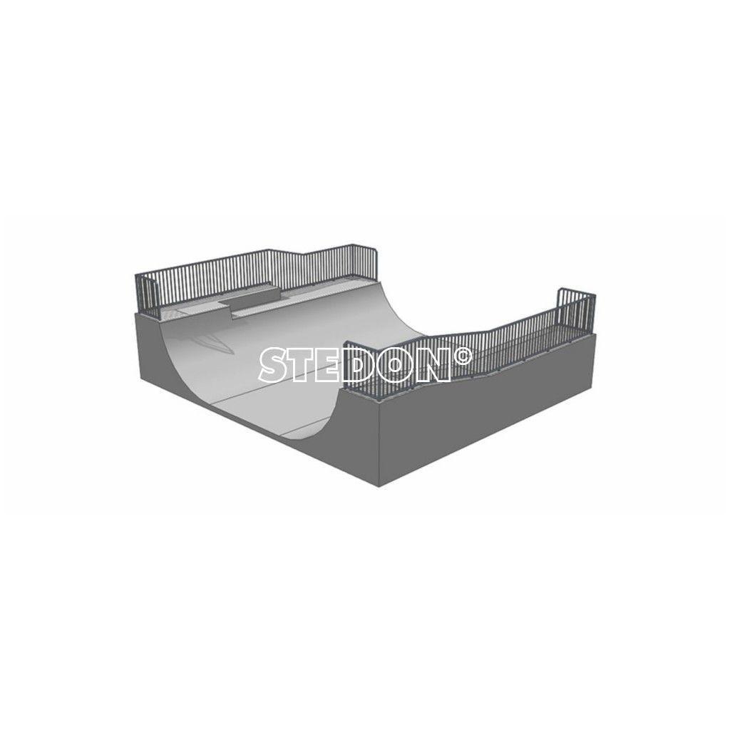 Skatetoestellen skatepark half pipe