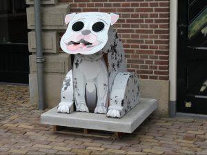 Dog can afvalbak straatmeubiliar