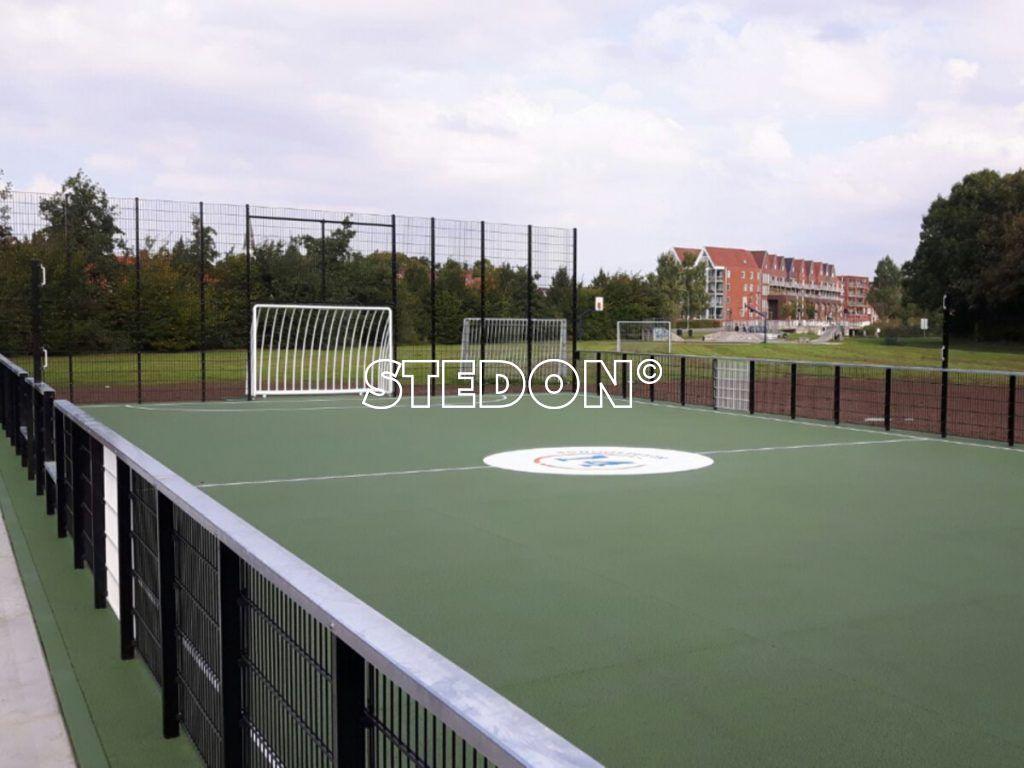 Sportkooi sportvloer Drainbeton