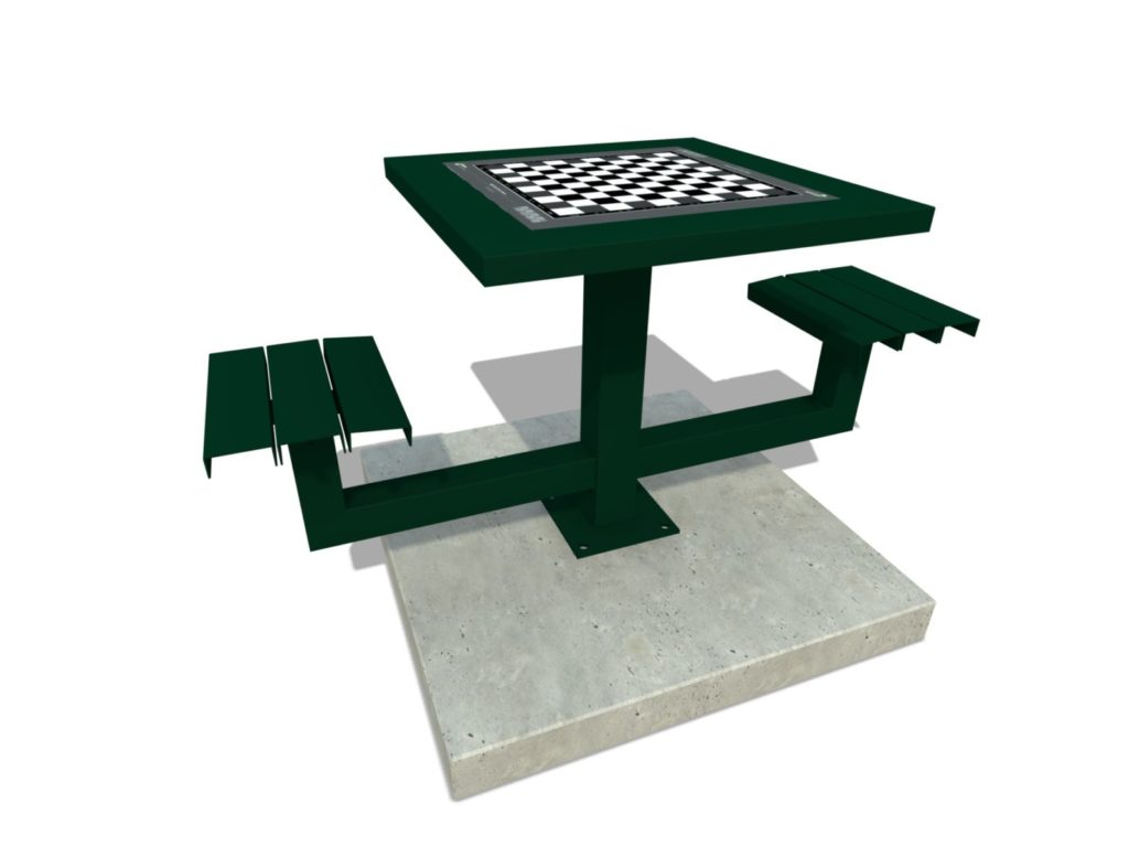 Dam schaak tafel, dam tafel, schaak tafel, game table, picknicktafel