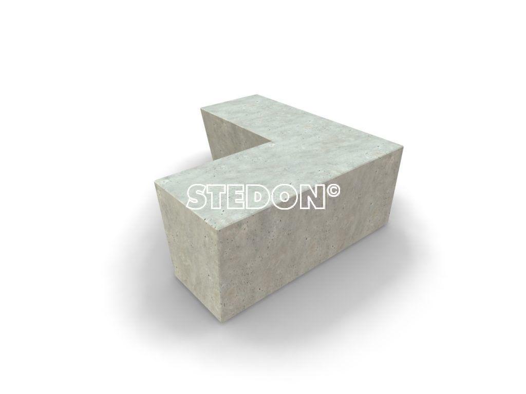 Parkranden, stadsranden, 90˚Hoek element beton, Zit element, zit elementen, zitelement, zitelementen, beton, betonnen zit element, zitblok, zitblok 90˚ hoek