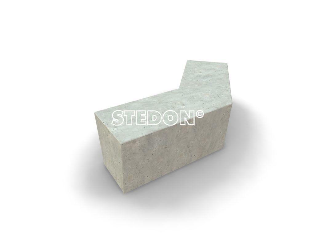 Hoek element beton, Zit element, zit elementen, zitelement, zitelementen, beton, betonnen zit element, zitblok, zitblok diagonaal