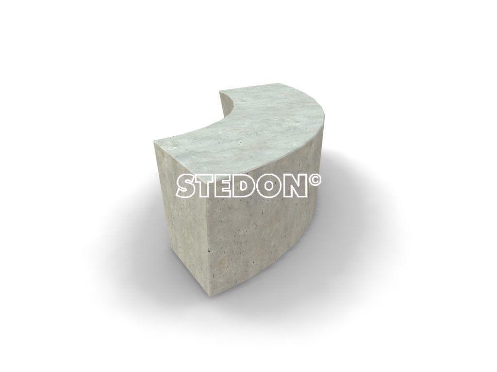 Radius element beton, Zit element, zit elementen, zitelement, zitelementen, beton, betonnen zit element, zitblok, zitblok radius beton