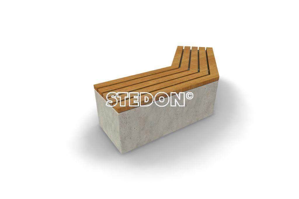 Diagonaal element beton, beton met houten zitting, beton element met houten zitting, zitting hout, Zit element, zit elementen, zitelement, zitelementen, beton, betonnen zit element, zitblok, zitblok diagonaal