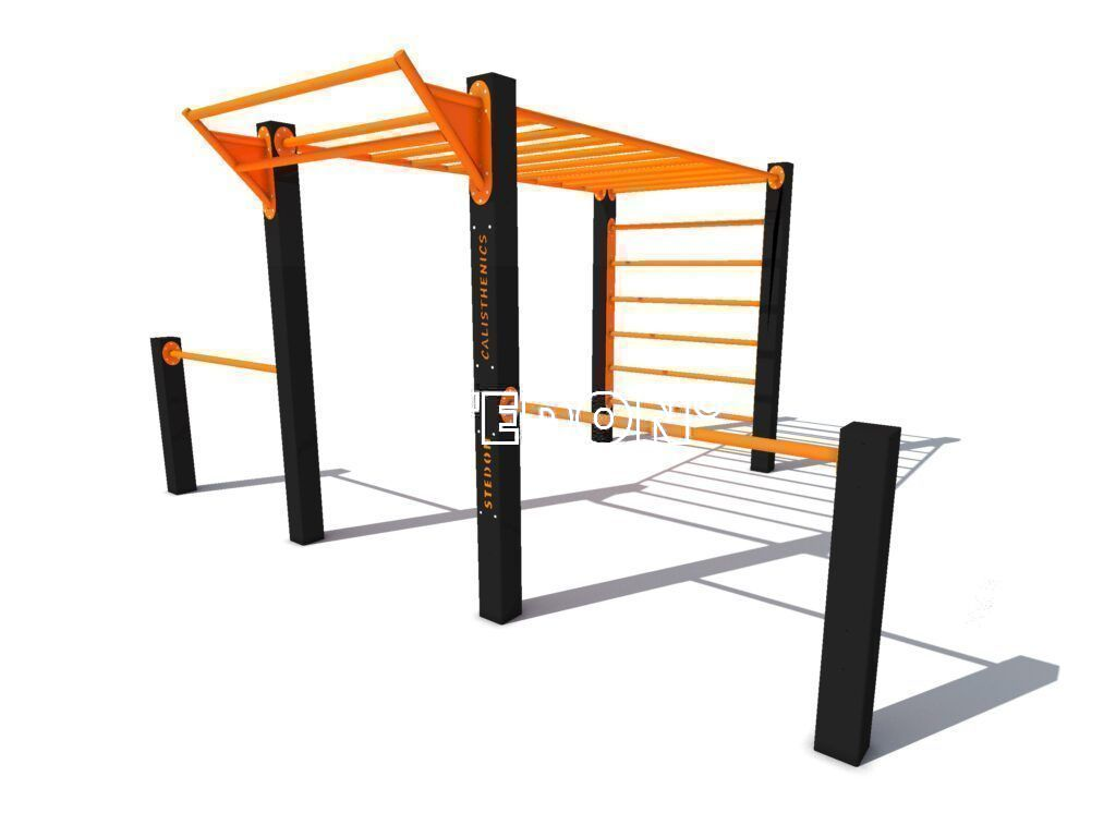 Monkeybar pull up bar, Monkeybars plus side bars, pull up bar, Calisthenics multi toestel, Calisthenics platform, calisthenics platforms, parcour monkeybar, parcour, Calisthenics toestellen,