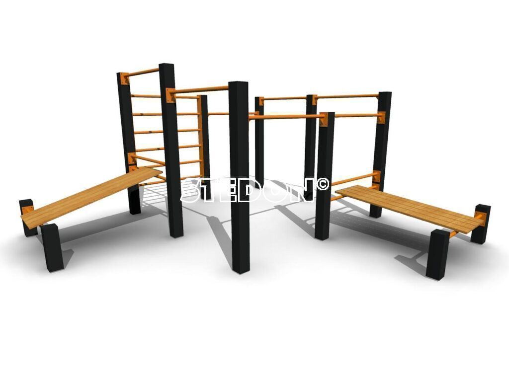 Modulair calisthenics, Multi bars pull up, Monkeybar pull up bar, Multi bars met sit ups, pull up bar, combinatie toestel calisthenics, Calisthenics multi bar toestel, Calisthenics platform, calisthenics platforms, parcour monkeybar, parcour, Calisthenics toestellen,