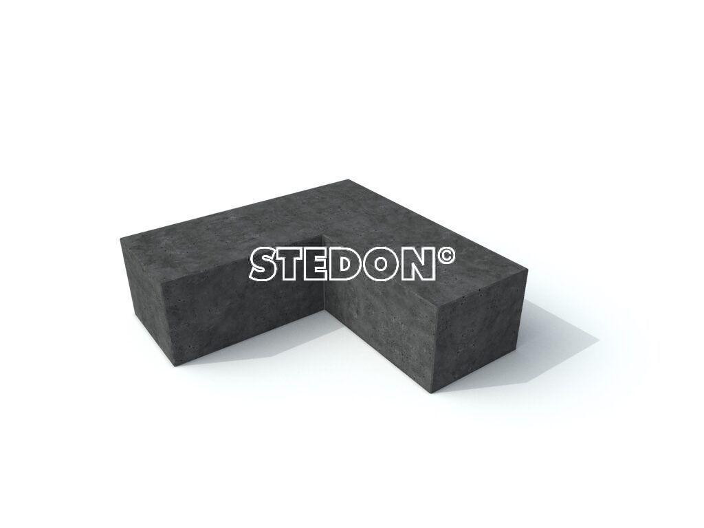 Parkranden, stadsranden, Parkrand, 90˚Hoek element beton, Zit element, zit elementen, zitelement, zitelementen, beton, betonnen zit element, zitblok, zitblok 90˚ hoek