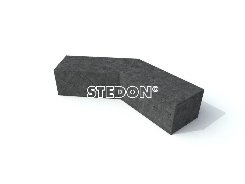 Parkranden, stadsranden, Parkrand, Hoek element beton, Zit element, zit elementen, zitelement, zitelementen, beton, betonnen zit element, zitblok, zitblok diagonaal